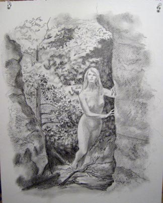 Figure in Grotto