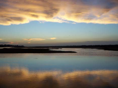 Inland Waterway Cloud Reflection