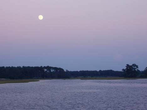 Calabash Inlet in Moonlight
