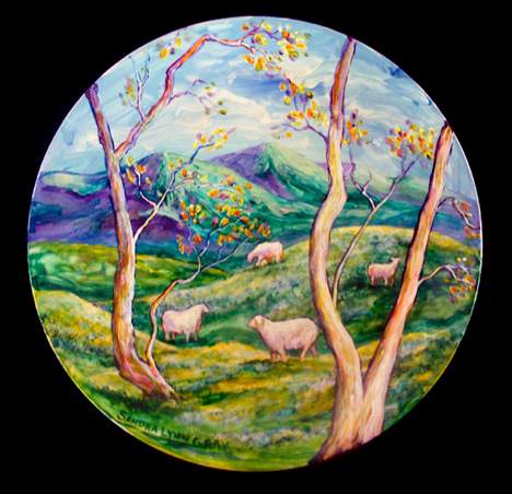 Meadows of Dan painted plate
