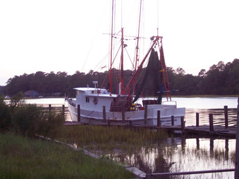 Calabash Trawler at dock